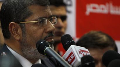 Muslim Brotherhood's presidential candidate Mohamed Morsy talks during a news conference in Cairo June 18, 2012 (Reuters / Amr Dalsh)