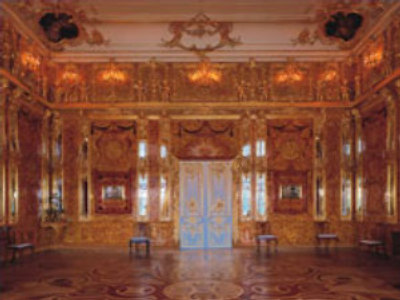 Amber Room replica in Saint Petersburg