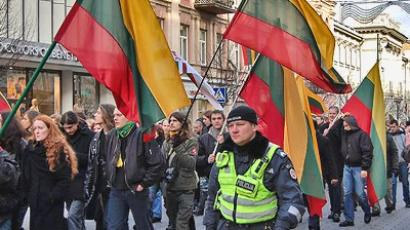 A big march took place in Vilnius on the day of Restoration of Lithuania's Independence. (Image from community.livejournal.com/lithuanian_news/)