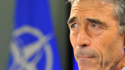 NATO Secretary General Anders Fogh Rasmussen (AFP Photo / Georges Gobet)