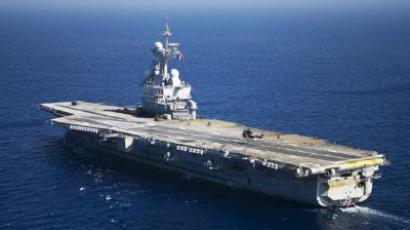 French aircraft carrier Charles de Gaulle. (AFP Photo / Bertrand Langlois)