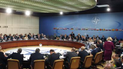 The meeting of the North Atlantic Council of NATO. (Reuters / Jason Reed)