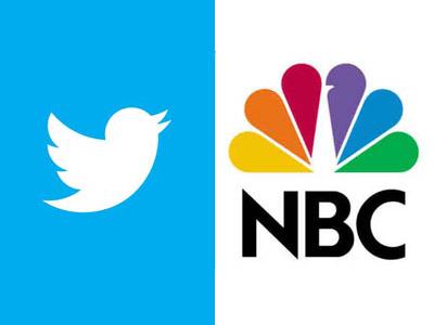 Twiter, NBC logos