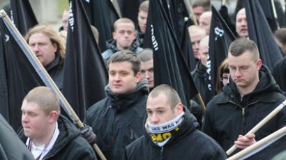 Human chain blocks Dresden neo-Nazi march on firebombing's anniversary