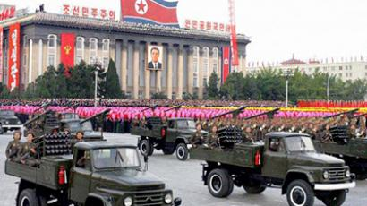 A military parade at Kim Il Sung Square in Pyongyang, North Korea (AFP Photo / KCNA via Korean News Service / Getty Images)