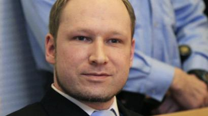 Anders Behring Breivik in court in Oslo on February 6, 2012 (AFP Photo / Scanpix / Lise Aserud)