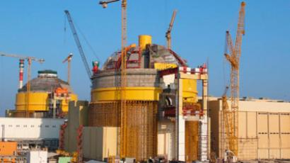 Two Pressurized Water Reactors (PWRs) under construction at the Kudankulam nuclear power plant in India. (Photo: P. Pavlicek/IAEA)