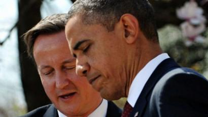 S President Barack Obama and British Prime Minister David Cameron take part in a joint press conference on March 14, 2012 in the Rose Garden of the White House in Washington, DC (AFP Photo / Mandel Ngan)