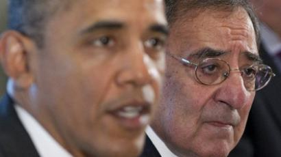 US President Barack Obama speaks alongside Secretary of Defense Leon Panetta (R) (AFP Photo / Saul Loeb)
