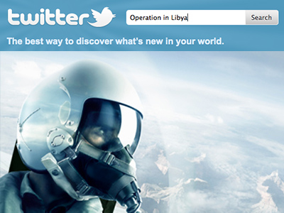Operation in Libya – now live at Twitter