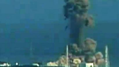 A screen grab taken from news footage by Japanese public broadcaster NHK on March 14, 2011 shows the moment of a hydrogen explosion at the Fukushima No. 1 nuclear power station number three reactor on March 14, 2011 (Japan Out AFP Photo / HO / NHK)