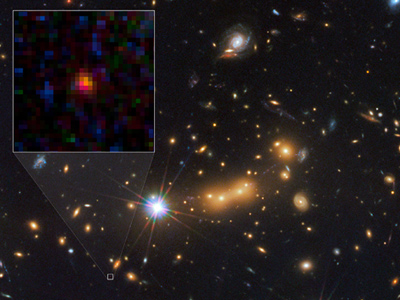 The galaxy MACS0647-JD (Image from nasa.gov)
