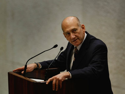 Ehud Olmert.(AFP Photo / David Silverman)