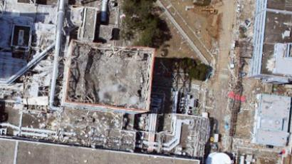 The stricken Fukushima-1 nuclear power plant No.1 reactor  on April 2, 2011 (AFP Photo / HO / Air Photo Service Alternative Crop)