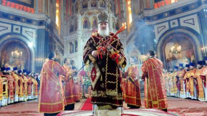 Easter Service in Cathedral of Christ the Savior (RIA Novosti / Sergey Pyatakov)