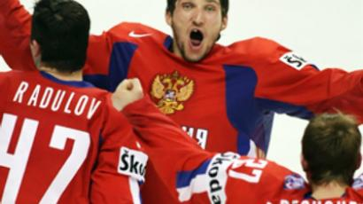 Alexander Ovechkin (C),  AFP Photo / Timothy A. Clary