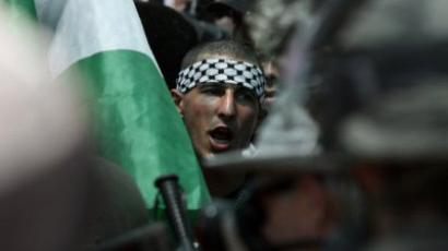 Palestinians flood streets to witness their history being made