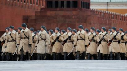 Ceremonial march on 70th anniversary of November 7, 1941 parade (RIA Novosti / Akeksey Filippov)