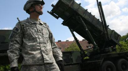 A battery of the American Patriot air defense missiles deployed at the Polish town of Morag, some 60 km from the border on Russia's Kaliningrad Region. One hundred American soldiers arrived with the missile systems.(RIA Novosti / Igor Zarembo)