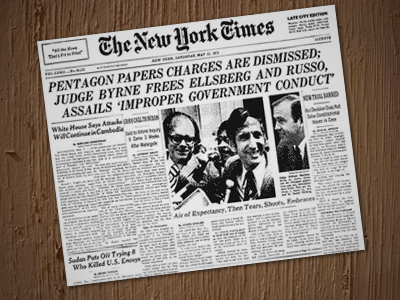 The New York Times began publishing the documents on June 13, 1971