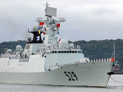 Chinese naval warship (AFP Photo / Rajesh Jantilal)