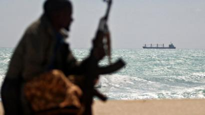 Photo made on January 7, 2010 shows an armed Somali pirate (AFP Photo/Mohamed Dahir)