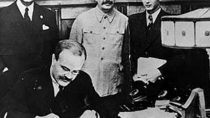 Signing of the Molotov–Ribbentrop Pact, August 23, 1939