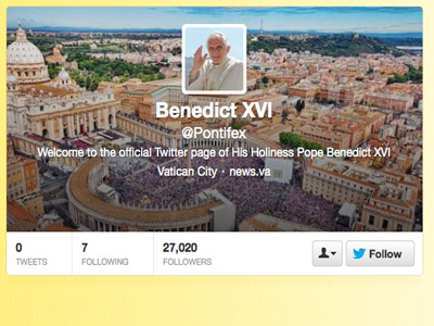 Screenshot from Twitter/@Pontifex