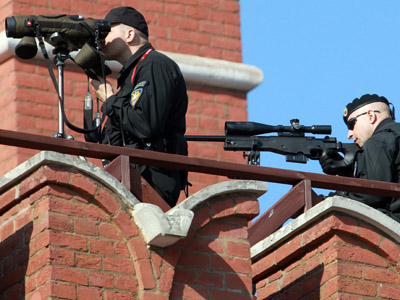 Snipers on Red Square. (RIA Novosti / Mikhail Fomichev)