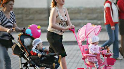 Young mothers in Russia