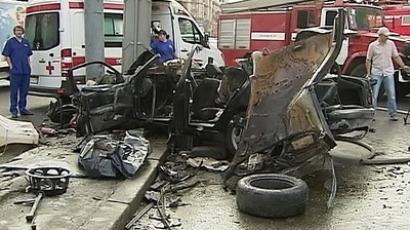 Accident in Moscow's Garden Ring (photo from http://www.topnews.ru)