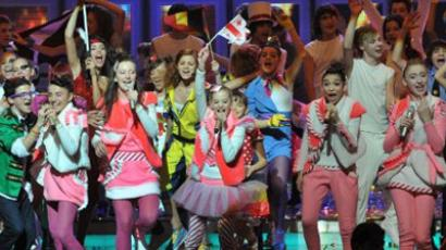 The 2011 Junior Eurovision song contest winners, Georgian group Candy (AFP Photo / Karen Minasyan)