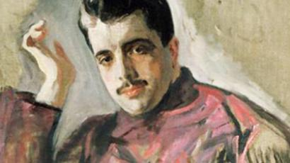 A portrait of Sergei Diaghilev by Valentin Serov