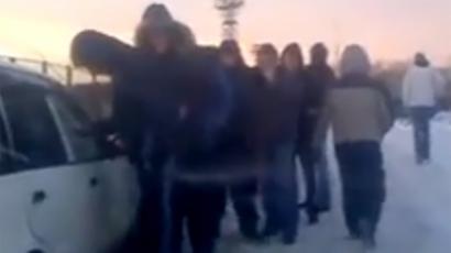 Drug queue filmed in Russia