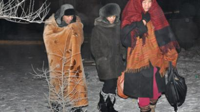 Tuva dwellers leave home following earthquake (RIA Novosti / Ivan Afanasyev)