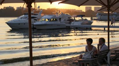 Beach Club Royal Bar in Moscow.