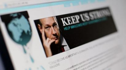 Paris : A picture taken on December 3, 2010 in Paris shows a page of the website WikiLeaks featuring its founder Julian Assange. (AFP Photo / Thomas Coex)