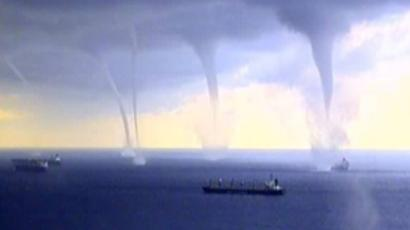 Multiple tornadoes near the Novorossiysk shore
