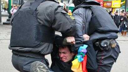 Came to fight: Ukraine's LGBT leader beaten upon canceling gay parade