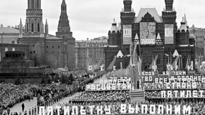 November 7 demonstration on Moscow's Red Square in the 1960s (RIA Novosti / Valeriy Shustov)
