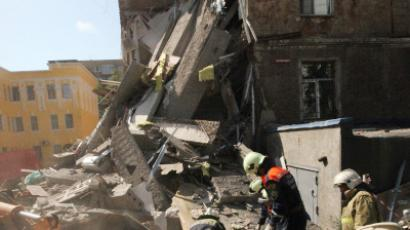 Five-storey apartment block collapsed in Vladivostok (RIA Novosti / Vitaly Ankov)