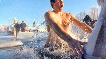 Washing away sins: Believers take ice-cold Epiphany dip