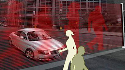 Laser zebra crossing (image by Moscow's Science Department)