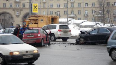 Lukoil car's crash (RIA Novosti / STF)