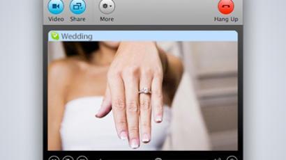 Skype wedding