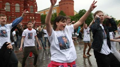 Flash mob next to Kremlin (RIA Novosti / Andrey Stenin)