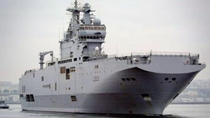 French Mistral-class amphibious assault ship (AFP Photo / Fred Tanneau)