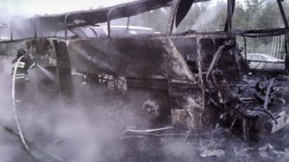 Burnt bus (RIA Novosti)