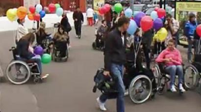 Annual wheelchair marathon taking place in Moscow (RIA Novosti / STF)