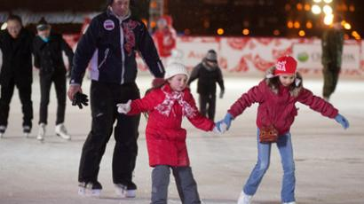 The New Year gift for Muscovites - the biggest-ever ice rink has opened in Moscow